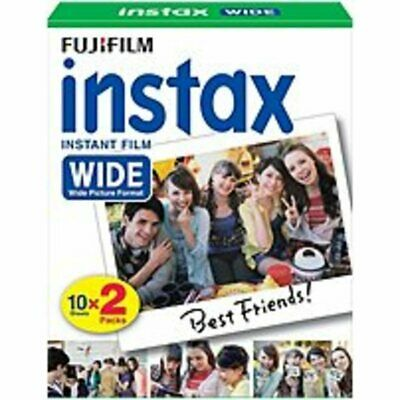 Fujifilm 16468498 Instax Wide Film Twin Cassettes Pack - 20 Exposures