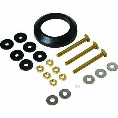 Tank To Bowl Gasket and Hardware Kit 2 Flush Valve Solid Brass Bolts Mansfield