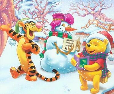 Disney's Cross Stitch Pattern__🎈Disney Winnie The Pooh & Snowman