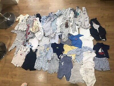 Huge Baby Boy Bundle Of Clothes 3-6mths 49 Items