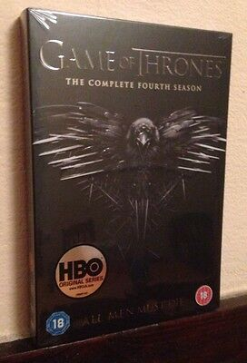 GAME OF THRONES - Complete Fourth Season 4 DVD Box Set BRAND NEW AND SEALED