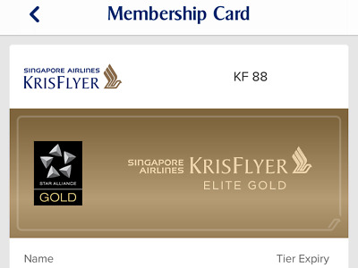 Star Alliance Gold instantly Singapore Airlines Gold 1 year
