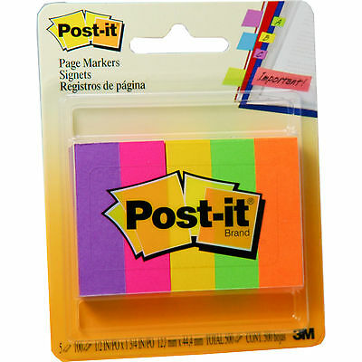 Post-it Page Markers, Pack of 500 in Assorted Colors