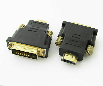 1pc HDMI Male to DVI-D Male 24+1 Pin DVI M/M Gold Plated Converter Adapter