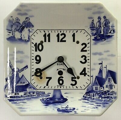 Delft Eight Day Plate Clock - Germany