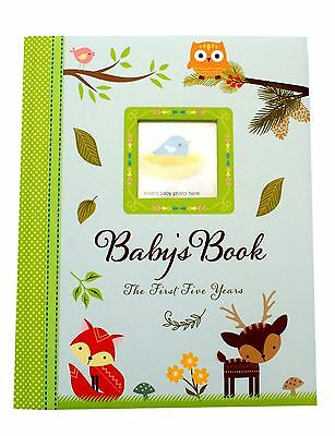 Woodland  Unisex Baby Girl Baby Boy First Five Years Record Book Photo Album