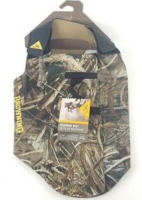 Browning Neoprene Realtree Max 5 Camo Dog Vest 3mm X-Large New 65-75lbs