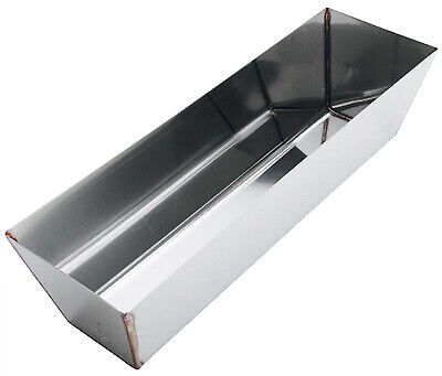 Mud Pan, Contoured Stainless Steel, 12-In.