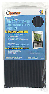 Window Air Conditioner Foam Side Panels, 9 x 18 x 7/8-In., 2-Pack