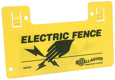 Electric Fence Warning Sign, Clip-On - pack of 10