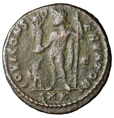 """JUPITER Large Roman Coin of Licinius I """"Jovi by Eagle"""" CERTIFIED AUTHENTIC COA"""