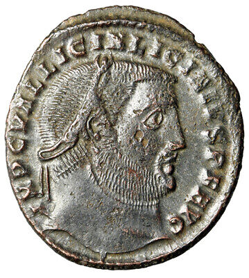 "HIGH QUALITY & LARGE Roman Coin of Licinius ""Jupiter"" Heraclea SCARCE Certified"