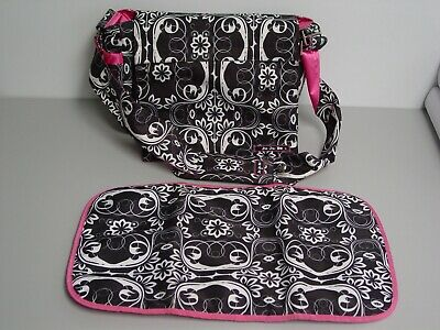 JuJuBe Better Be Baby Diaper Messenger Bag w/ changing pad, wipe pouch Ju Ju Be
