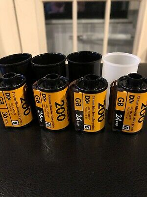4 rolls of Expired Kodak Gold 200 35 mm Color Print Film Unboxed