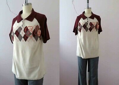 Guess Cotton Argyle Monogram Top Unisex Large  Buy 3+items for FREE Post