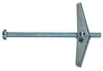Toggle Bolt, Spring Wing, Round Head, 1/4 x 3-In.