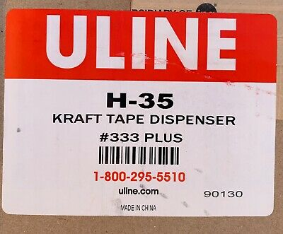 Brand New ULINE PACK 333 PLUS GUMMED TAPE DISPENSER