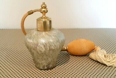 Royal Brierley  Art Glass Perfume Sprayer Atomizer Bottle,Hand Made 1950-60