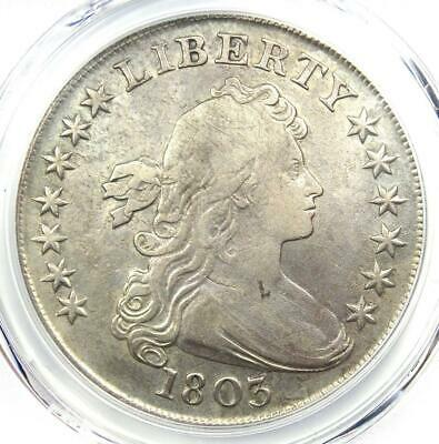 1803 Draped Bust Silver Dollar $1 - Certified PCGS VF Details - Rare Coin!