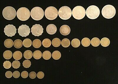 Hong Kong 38 different coins Cents &  Dollars