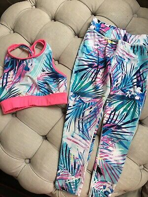 Next Girls Gym Top And Leggings Age 7