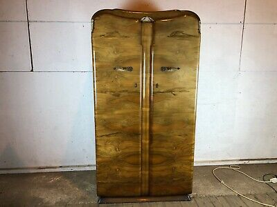 Single Men's Wardrobe  Vintage 1960's Supersuite with Shelves Walnut