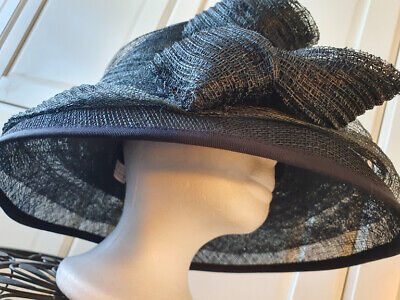 Ladies Hat By Head Works .. Blue.. Wedding Races Formal Wear