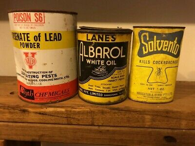 3 X COLLECTABLE VINTAGE Insecticide tins