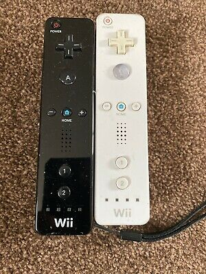 Nintendo Wii official remote black and white
