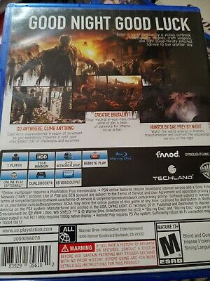 Ps4 Dying Light. Blue - Ray Disc
