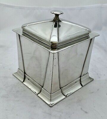 rare early Liberty & Co tudric art nouveau pewter biscuit box Archibald Knox 085