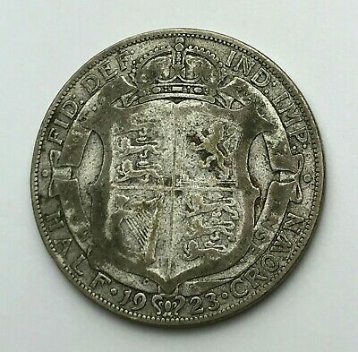Dated : 1923 - Silver Coin - Half Crown - King George V - Great Britain