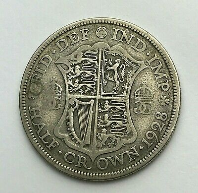 Dated : 1928 - Silver Coin - Half Crown - King George V - Great Britain