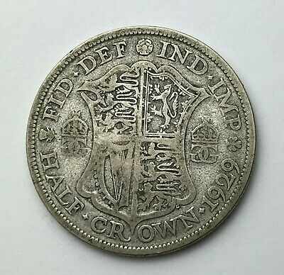 Dated : 1929 - Silver Coin - Half Crown - King George V - Great Britain