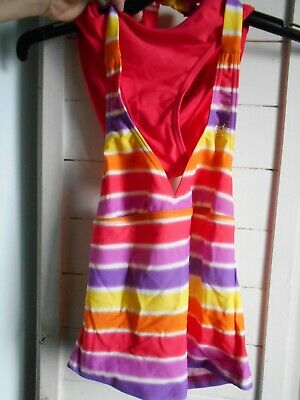 Target Red Multi-Colour Stripe @ piece Swimmers PREOWNED