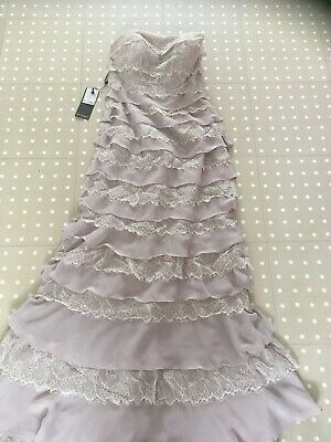Ian Stuart London Taupe Evening Dress Size 12