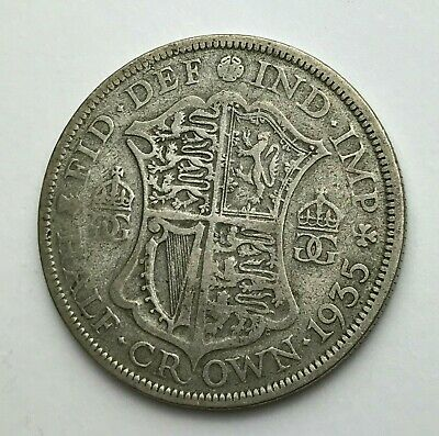 Dated : 1935 - Silver Coin - Half Crown - King George V - Great Britain