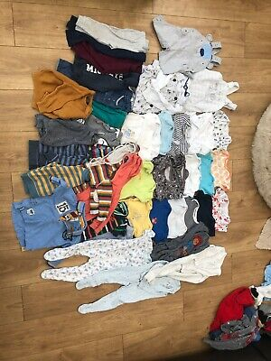 Huge Bundle Of Baby Boys Clothes 6-9mths 42 Items Lot B