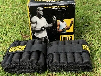 Everlast Ankle Weights - Black 4kg. Gym, Fitness, Home Gym, Boxing, Running