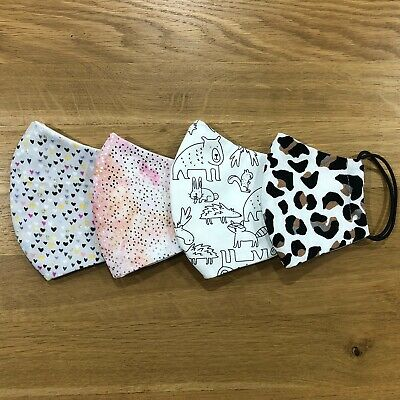 Set Of 4 Cotton Face Masks Any Pattern Combo Adult And Child Sizes