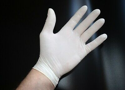 100 x Powdered Medical Latex Disposable Gloves, Size: X/L.
