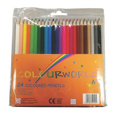 Colourworld Art Colouring Pencils Set Kids Artist Sketching 24 Pack