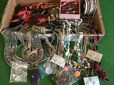 house clearance Collection Of Costume Jewellery Items