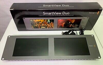 "Blackmagic Design SmartView Duo Rack Mount Dual 8"" LCD Monitors"