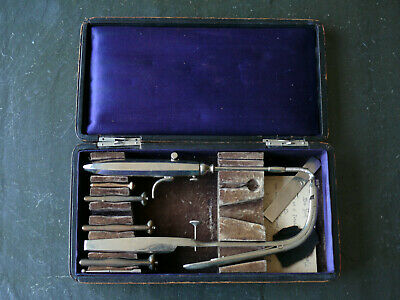 19th C Jeffrey & Gotschall Tracheostomy Set with Mouth Gag Antique Instruments