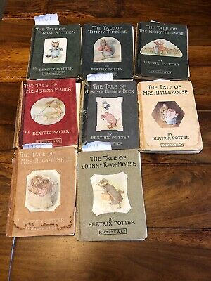 Job lot Bundle Of Eight Very Old Antique Beatrix Potter Books, First edition