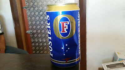 rare vintage 750ml fosters lager gold top beer  can