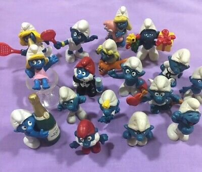 Smurfs Figurines Vintage X 17 All Fair-Dinkum Offers Will Be Considered