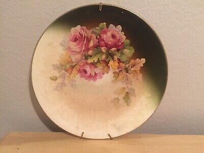 Antique Hand Painted Floral Plate China Flower Plate