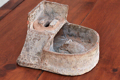 Ancient Han Dynasty Pig Toilet, Funerary Pottery Sculpture 100AD